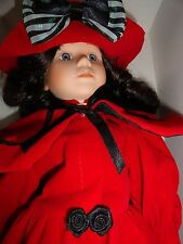 Porcelain doll 16 inch & matching Christmas oranment  new IOB Holiday  baby doll