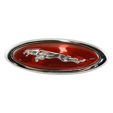 Jaguar XKR RED Left Fender Badge Leaper Emblem HJD5771AA 2000-2006