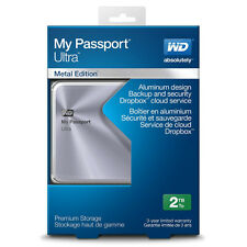 WD My Passport Ultra Metal Edition 2TB Portable External Hard Drive Silver NEW