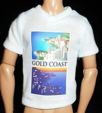 NEW White Doll T Shirt Fit Curvy Barbie Ken Tourist Australia Gold Coast Clothes