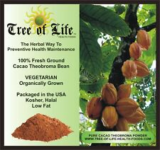Cocoa (100% Cacao Theobroma) 1 Lb Organic Bulk Pricing Super Low Fat