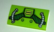 ORIGINAL Lego part - 2x4 printed slope from lex luthor car 10724 lime green