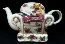 "Royal Albert OLD COUNTRY ROSES 4.5"" China Chair Teapot E16-1"