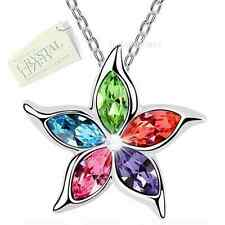 Genuine Swarovski Crystal Gold Plated Pendant Necklace Mum Girl Sister Wife Gift