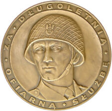 """Polish Army Bronze Medal """"For a long-term dedicated service"""" old, big"""