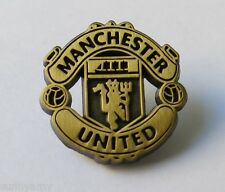 Official Manchester United - Antique Gold Crest Pin / Badge (NEW in Packaging)