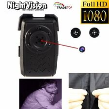 Mini 1080P HD SPY DVR Hidden Buttons Camera Night Vision Audio Videorecorder Cam