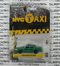 GREENLIGHT 1:64 Hobby FORD CROWN VICTORIA New York NYC TAXI CAB Green Machine