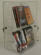 Spinning Double-Sided Retail Size DVD/Movie/Game/Bluray Locking Display Case
