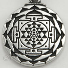 SRI YANTRA Pendant Mandala Prosperity Talisman Wealth & Good Luck Necklace auct
