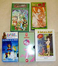 LOT DE 5 CASSETTES VHS POUR ENFANTS - A SAISIR !!!