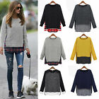 Women's Long Sleeve Pullover Knitted  Jumper Top Sweatshirt Sweater Shirt Blouse