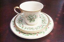 Lenox Holiday Pattern, TRIO coffee cup, saucer and cake plate[4-2]