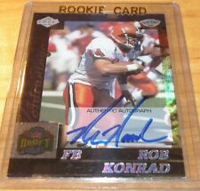 1999 Edge Advantage Autographs Blue Auto Rob Konrad 35/40 Made Miami Dolphins