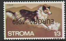 GB Locals - Stroma (1028) 1969 EUROPA opt INVERTED on DOGS 1s3d u/m