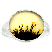 Scenic Dendritic Agate 925 Sterling Silver Ring Jewelry s.7.5 SDAR577