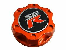 ORANGE V2-STYLE JDM BILLET ENGINE OIL FILLER CAP FOR NISSAN SENTRA ALTIMA SER