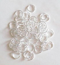 100 silver plated 10mm jump rings, findings for jewellery making crafts