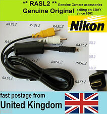 Genuine NIKON audio video AV cable CoolPix 4100 4200 4600 4800 5200 5600 S9100
