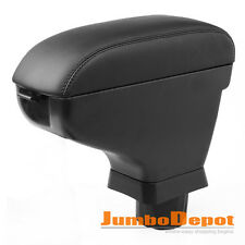 Fit For 07-15 Nissan Versa Tiida Black Leather Car Center Console Armrest Box X1