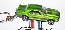 CUSTOM MADE..1967 FORD MUSTANG GT (GREEN MET./BLACK)  KEYCHAIN..GREAT GIFT!