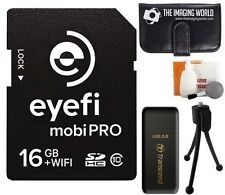 Eye-Fi 16GB SDHC Mobi-Pro WiFi Wireless Class 10 Memory Card + Reader + Bundle