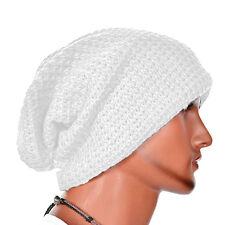 Oversize Men Women Winter Warm Knit Skull Beanie Wool Baggy Cap Slouch Ski Hat