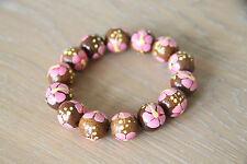 Wooden Painted Large Beaded Bracelet