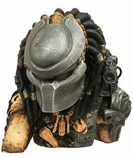 Predator Vinyl Bust Bank. Masked head of alien hunter. Collectible Kids Toy Gift