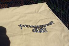 Authentic Daniel Swarovski Moon, Star, Heart, Circle Silver Heavy Charm Bracelet