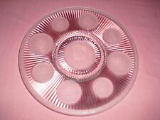Collectible Imperial Glass Clear Frosted Coin Collector's Plate