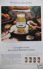 PUBLICITÉ 1980 LES PETITS SECRETS DE LA SAUCE BEARNAISE - ADVERTISING