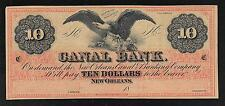 Canal Bank - New Orleans - Obsolete 10 Dollar Note - 18__ - AU/Unc