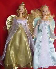 Two blonde Barbie Angels, Dressed with Wings and Shoes