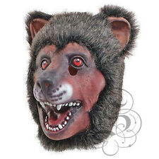Latex Animal Full Head Bear With Fur Fancy Dress Up Party Props Carnival Masks