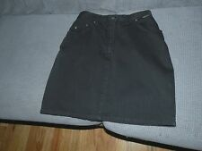 Cappopera Jeans Couture black denim skirt  made in Italy size 44  (USA size 30 )