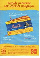 PUBLICITE ADVERTISING 126  1993  kodak   & Eurodisney   Aladin Walt Disney