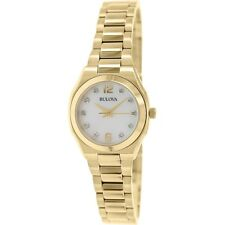 Bulova Women's 97P109 Diamond Gallery Analog Display Yellow Watch