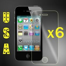 6 HD Clear LCD Screen Protector For Apple iPhone 4 4G 4S Cover Guard Shield Film