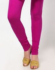 NEW SOFT COTTON STRETCHABLE WOMEN LEGGINGS YOGA PANTS FREE SIZE IN MAGENTA COLOR