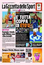 GAZZETTA DELLO SPORT DEL 30/05/2011-INTER CAMPIONE COPPA ITALIA-