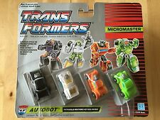 Transformers G1 1989 HOT ROD PATROL MOSC complete micromaster
