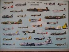 WORLD WAR II AIRCRAFT, AUTHENTIC 1987 POSTER