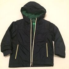 Sale!!  Bennetton 2yrs Boys Navy Hooded Jacket Kids Clothes