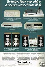 Publicité advertising 1980 Chaine Hi-fi Platine Technics