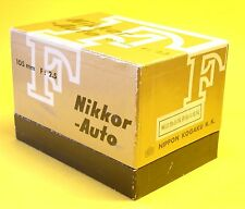 Nikon NIKKOR-P Auto 105mm 1:2,5 lens in MINT condition with Bubble, Cap and Box!