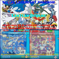 All 56 Legendary Pokemon! Perfect Stats for X-Y, Alpha and Omega! Includes Hoopa