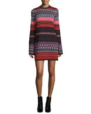 McQ Alexander McQueen Long-Sleeve Fair Isle Tunic Dress  $380 Size Medium