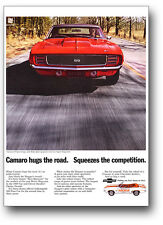 24x36 1969 Chevrolet Camaro SS 396 Ad Poster Chevy 350 RS '69 Indy 500 Hugger