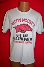 JUSTIN MOORE Tailgate Party Concert T-SHIRT L Arkansas Razorback Pig FOOTBALL